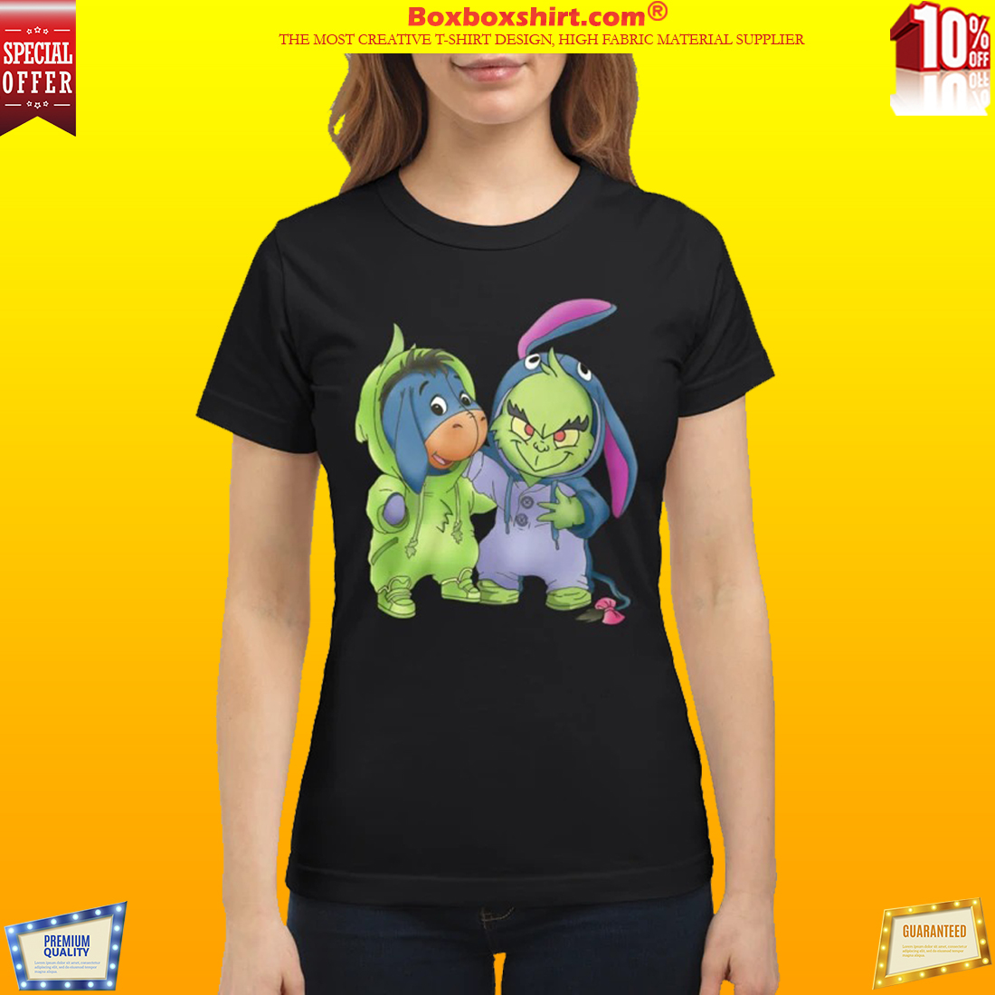 Baby Grinch and Eeyore classic shirt