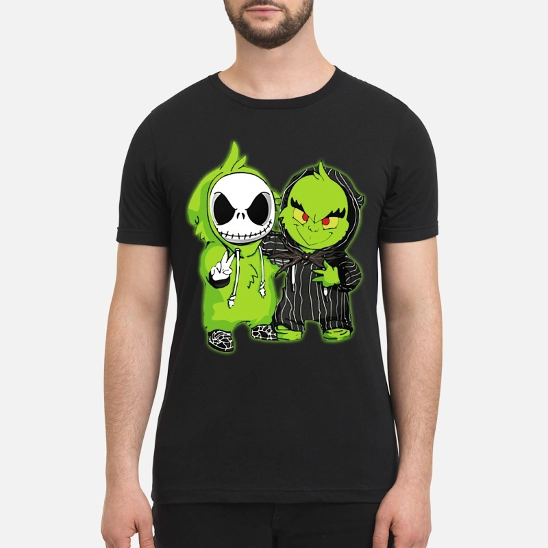 Baby Grinch and Jack Skellington shirt and sweatshirt