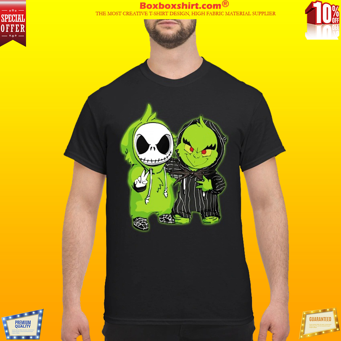 d835397a Baby Grinch and Jack Skellington shirt and sweatshirt