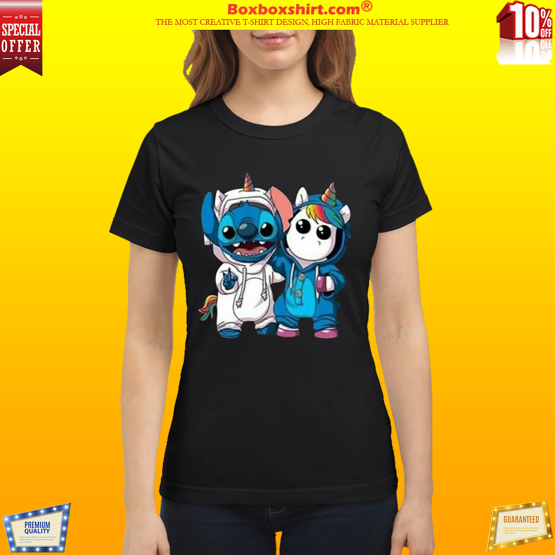 Baby unicorn and stitch classic shirt
