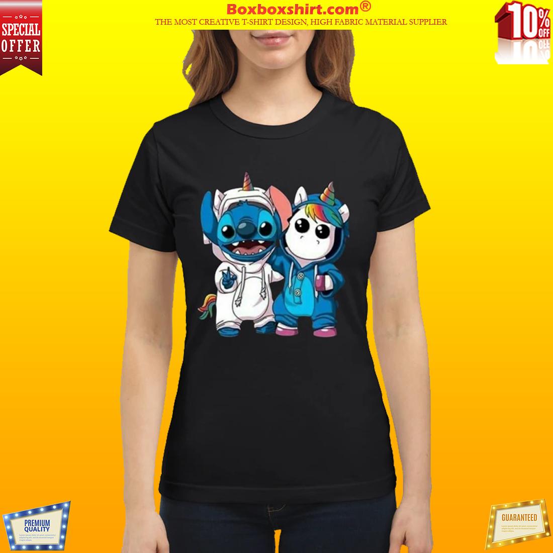 Baby unicorn and stitch classic shirt