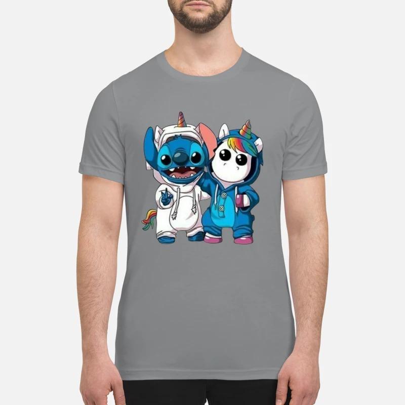 Baby unicorn and stitch premium shirt