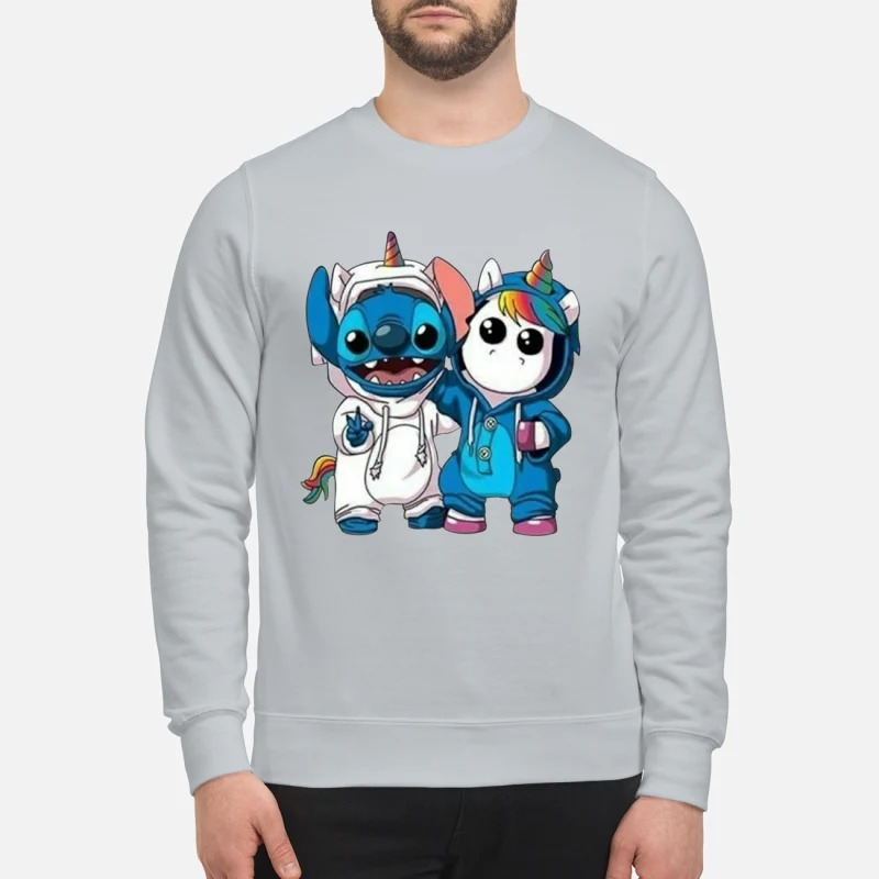 Baby unicorn and stitch sweatshirt