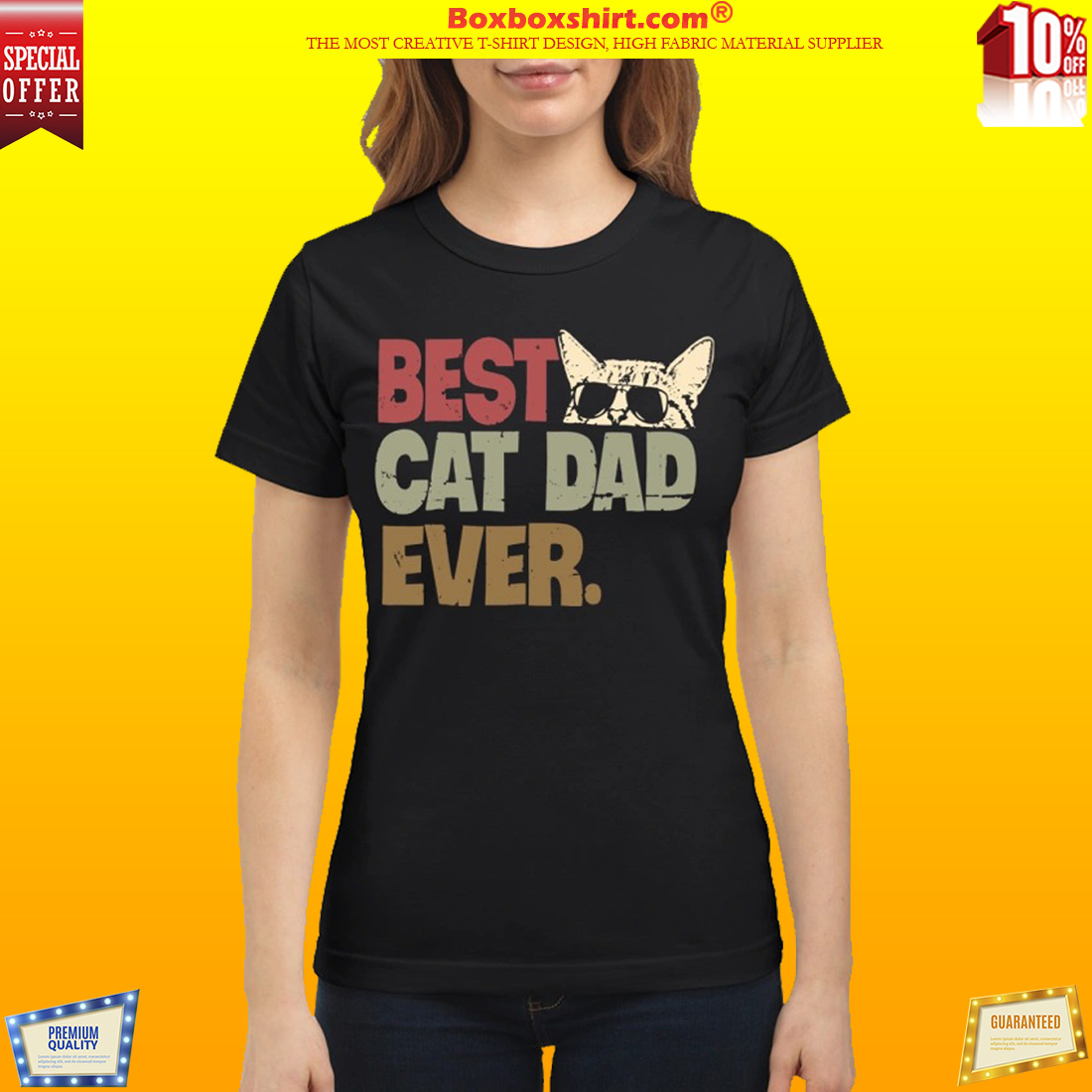 Best cat dad ever classic shirt and sweatshirt
