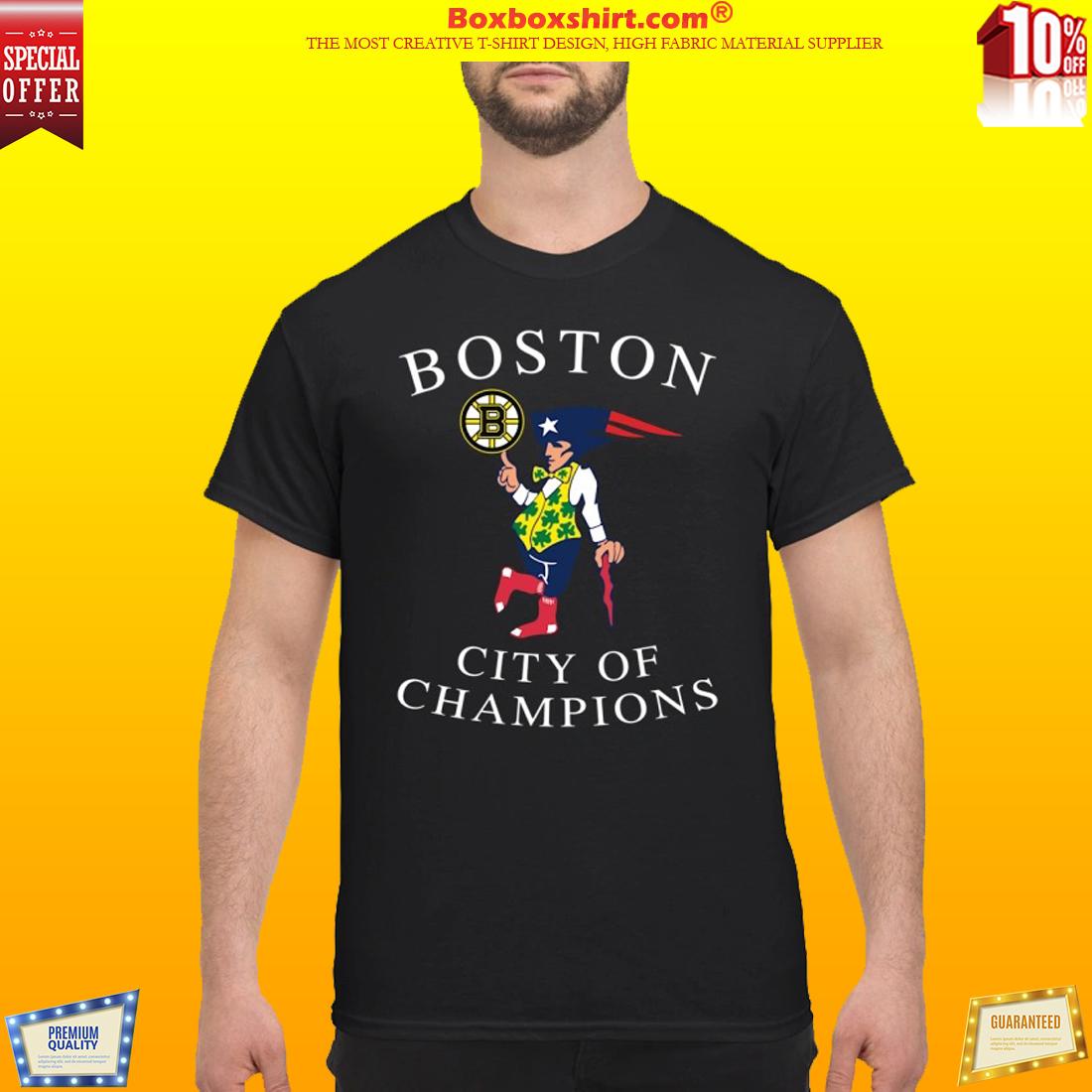 Boston city of champion t shirt