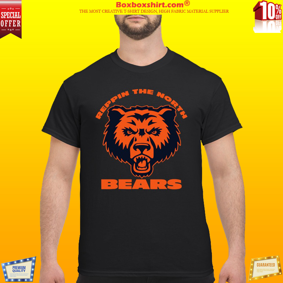 Chicago bears repping the North bears shirt