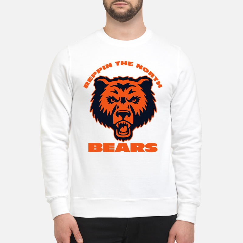 Chicago bears repping the North bears sweatshirt