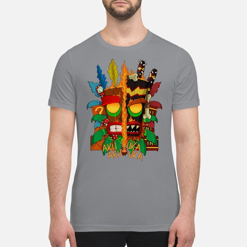 Crash bandicoot aku aku mask premium shirt