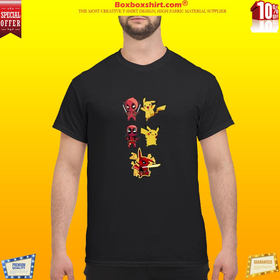 3b8691e8 Deadpool And Pikachu Fusion Pikapool shirt