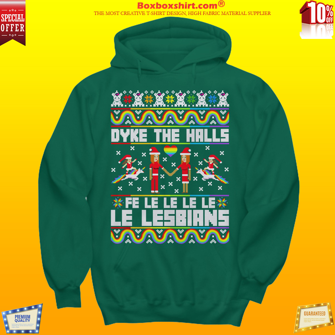 Dyke the halls le lesbians sweater shirt