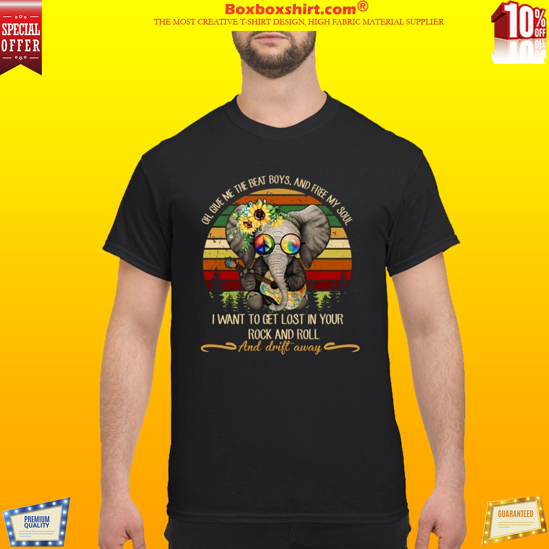 Elephant give me the beat boys my soul lost in your rock and roll drift away shirt