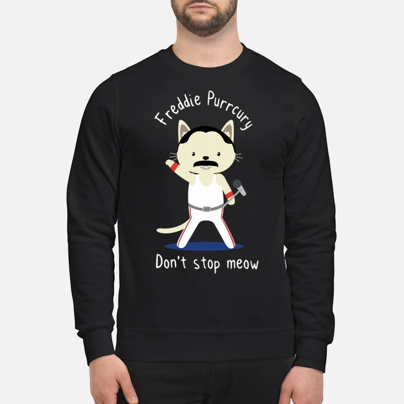 Freddie Mercury don't stop meow t shirt