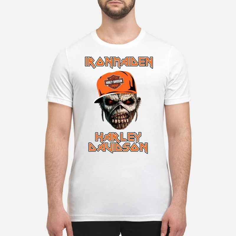 Iron maiden Harley Davidson skull t premium shirt