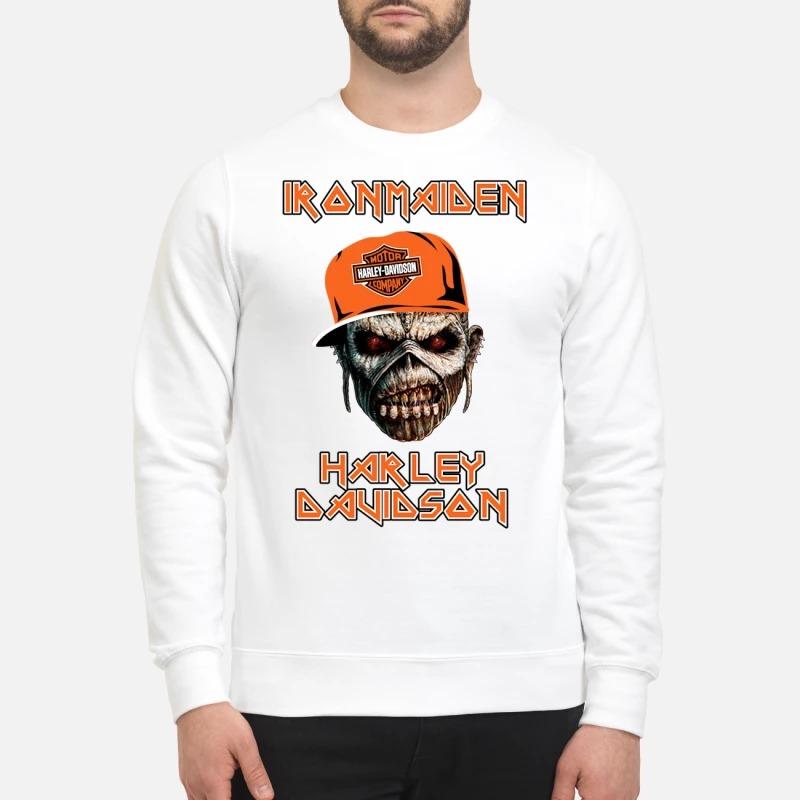 Iron maiden Harley Davidson skull t sweatshirt