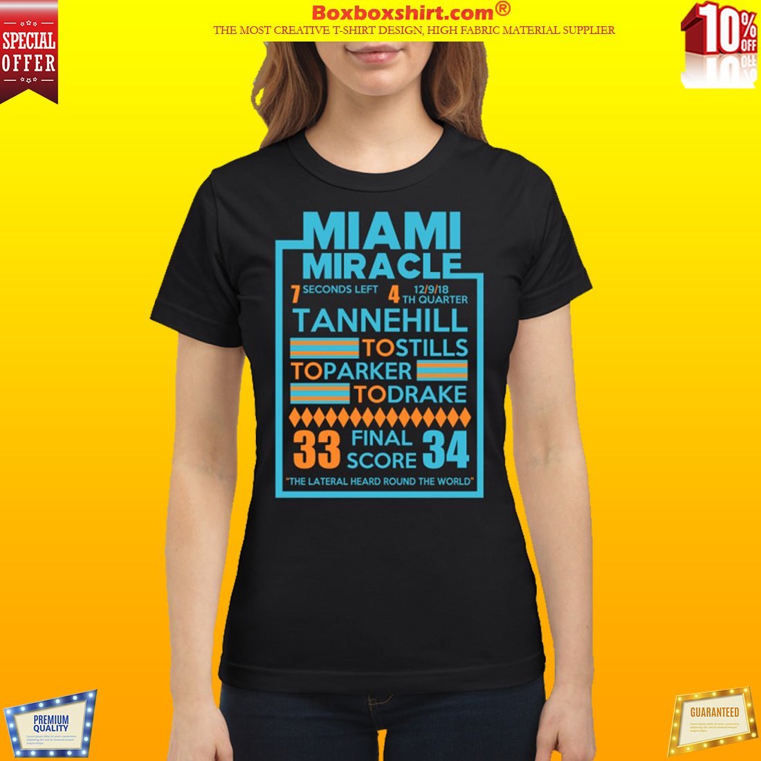 Miami Miracle Tannehill to stills to parker to drake classic shirt