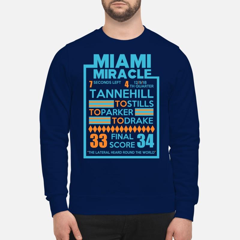 Miami Miracle Tannehill to stills to parker to drake sweatshirt