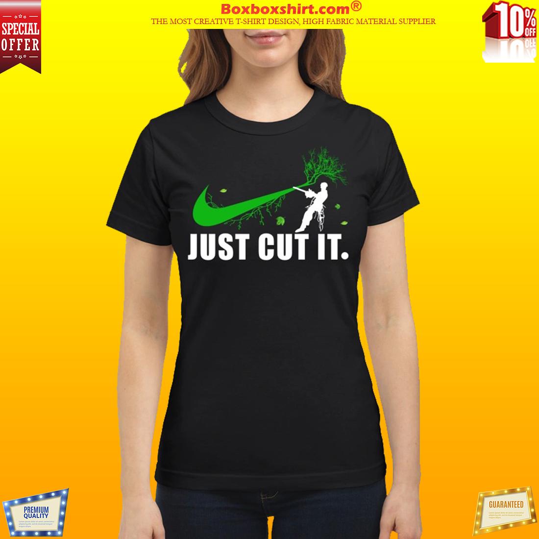 Nike logo green just cut it classic shirt