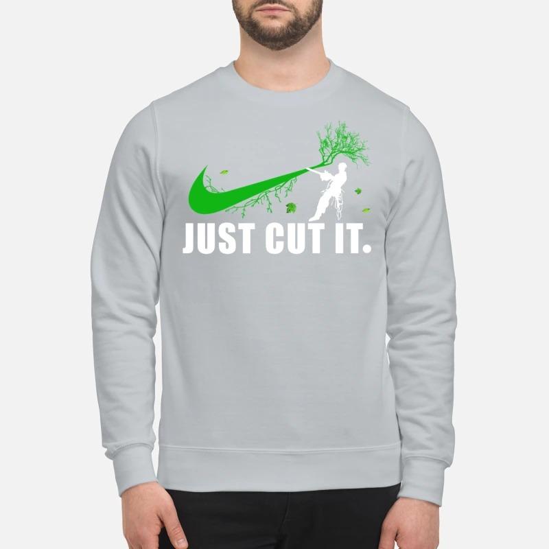 Nike logo green just cut it sweatshirt