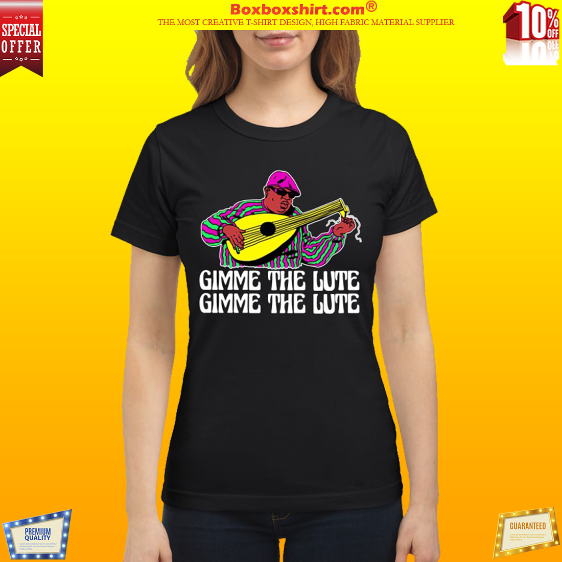 Notrorious BIG gimme the lute classic shirt