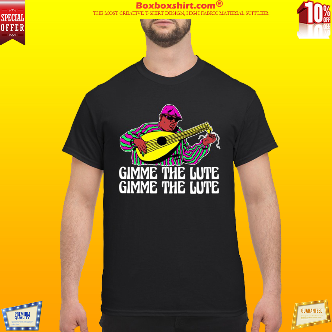 Notrorious BIG gimme the lute shirt