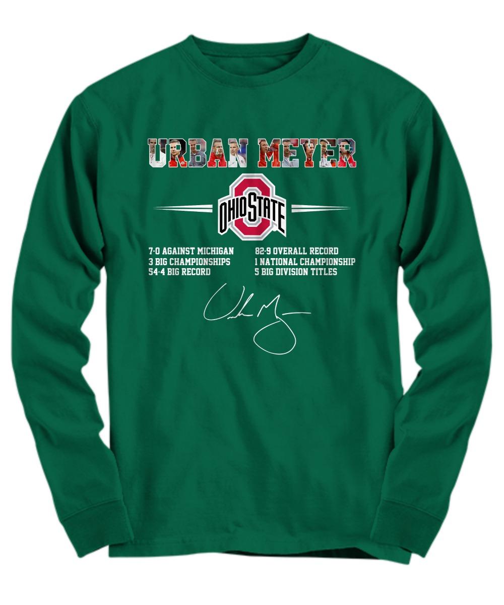 Ohio State Urban Meyer long sleeve tee