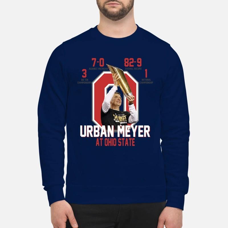 Ohio State Urban Meyer shirt and sweatshirt
