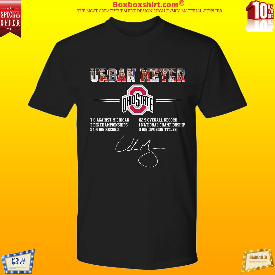 Ohio State Urban Meyer shirt