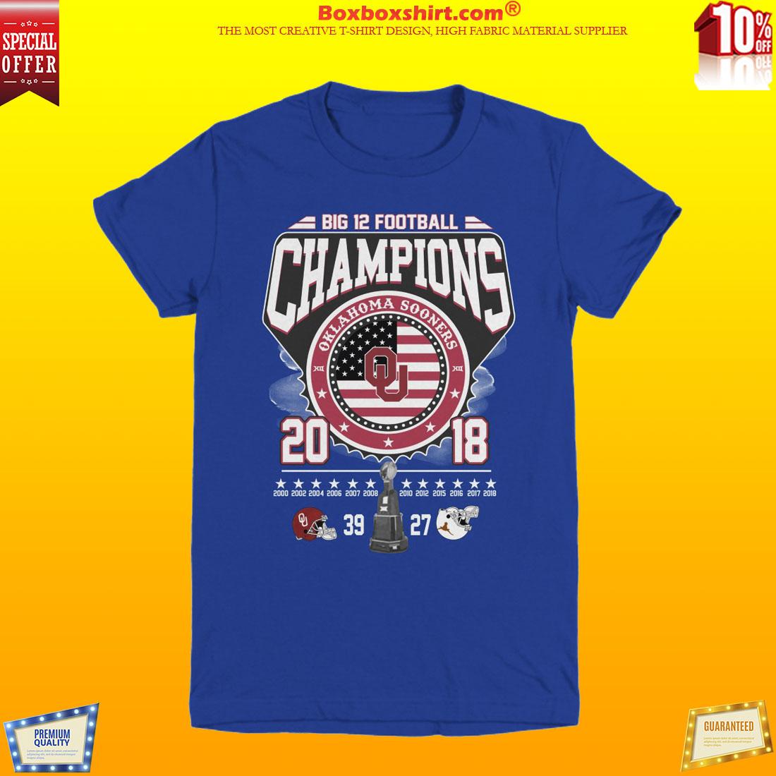 Oklahoma vs Texas big 12 football champion 2018 shirt