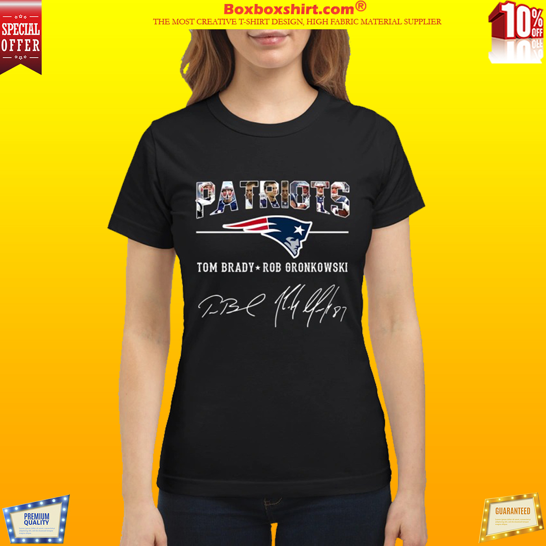 Patriots Tom Brady Rob Gronkowski sign classic shirt
