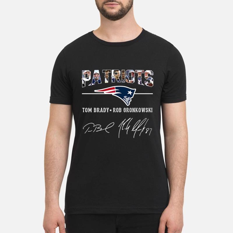 Patriots Tom Brady Rob Gronkowski sign premium shirt