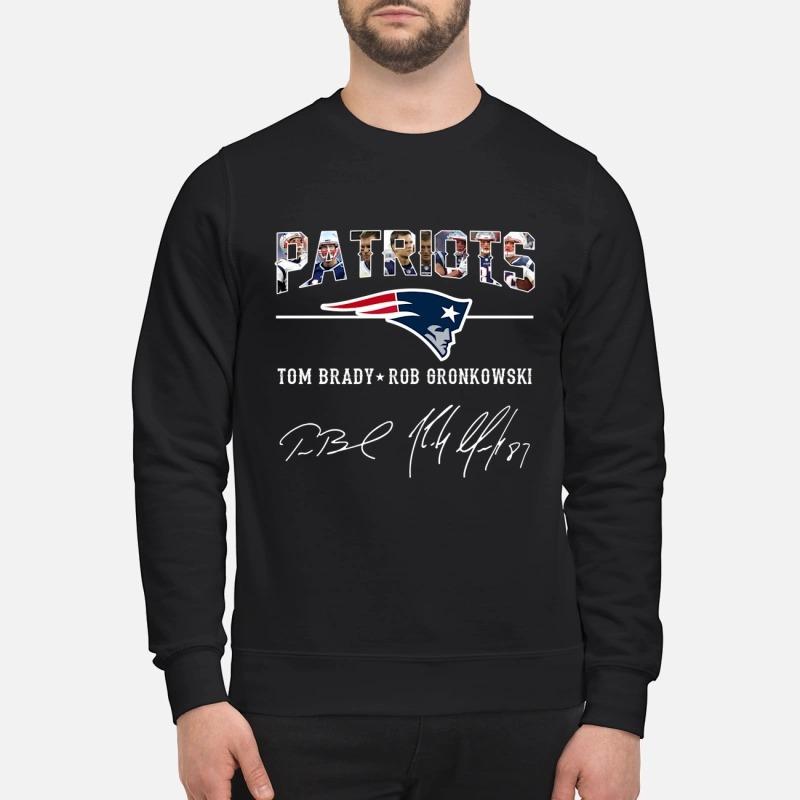 Patriots Tom Brady Rob Gronkowski sign sweatshirt