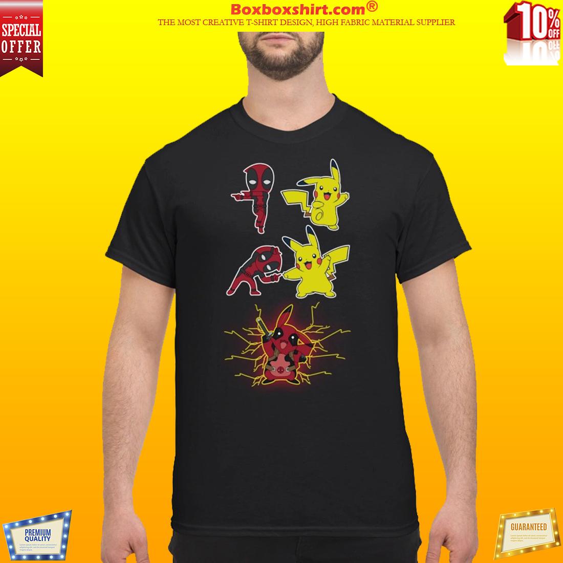 9b65a4e6 Pikachu fusion deadpool pikapool shirt
