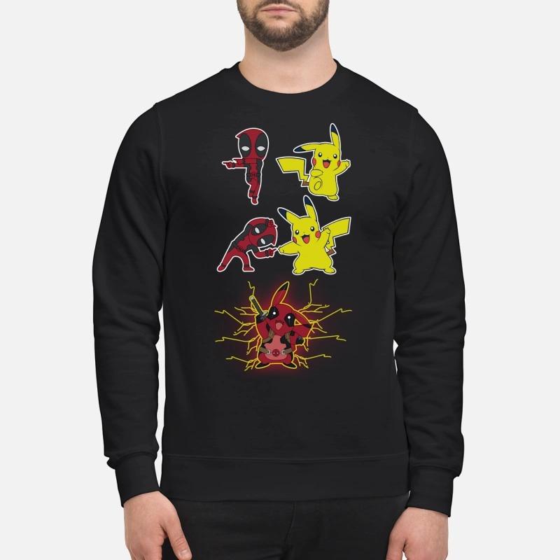 Pikachu fusion deadpool pikapool shirt