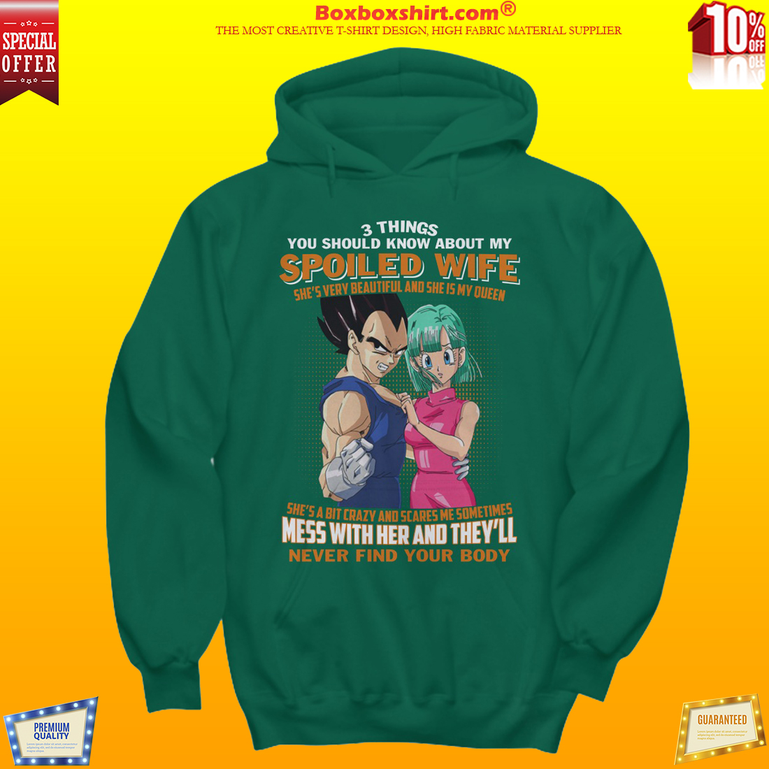 Son goku 3 things you should know about my spoiled wife shirt