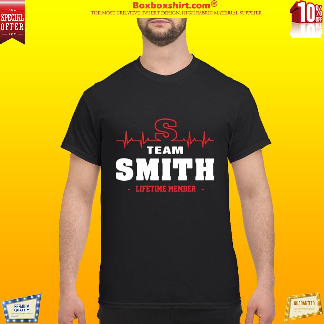 Team Smith lifetime member shirt