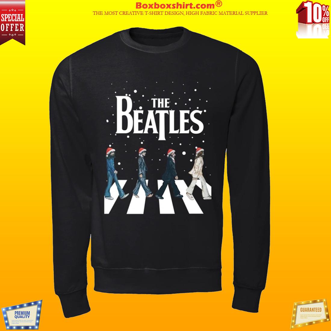 The beatles walking across abbey road Christmas shirt
