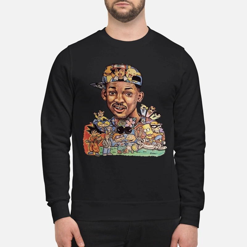 Will Smith cartoon character pattern shirt