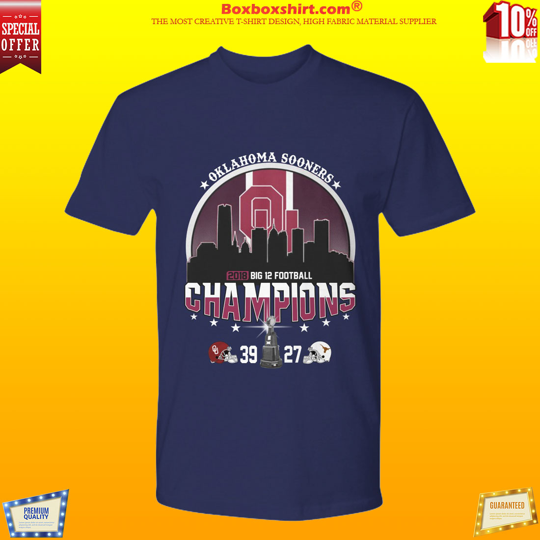 oklahoma big 12 championships shirt