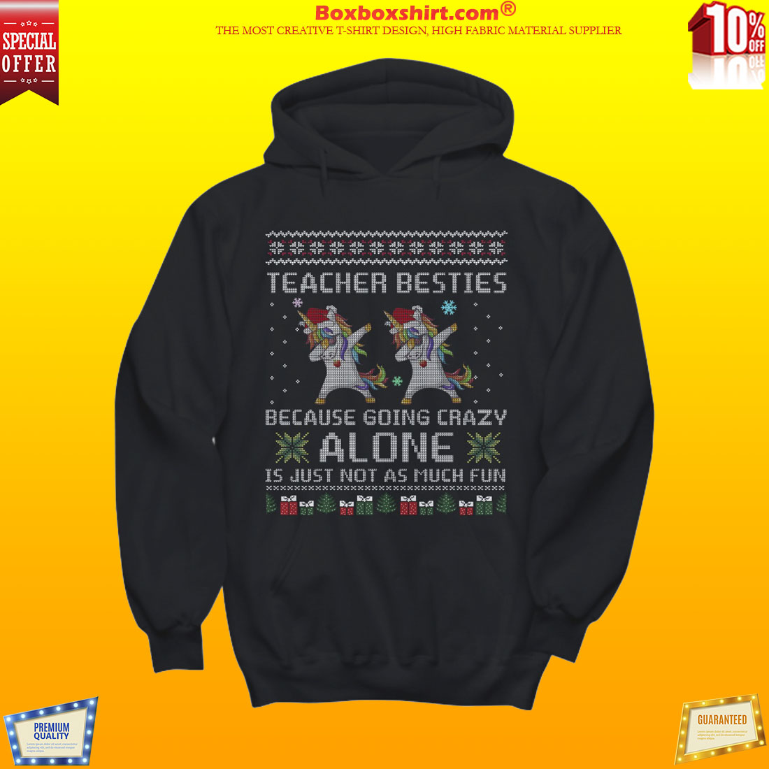 unicorn dabbing teacher besties crazy alone just not as much fun shirt