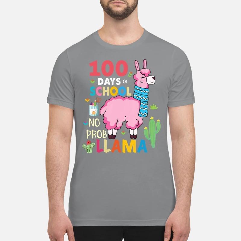 100 Days of school no prob llama premium shirt