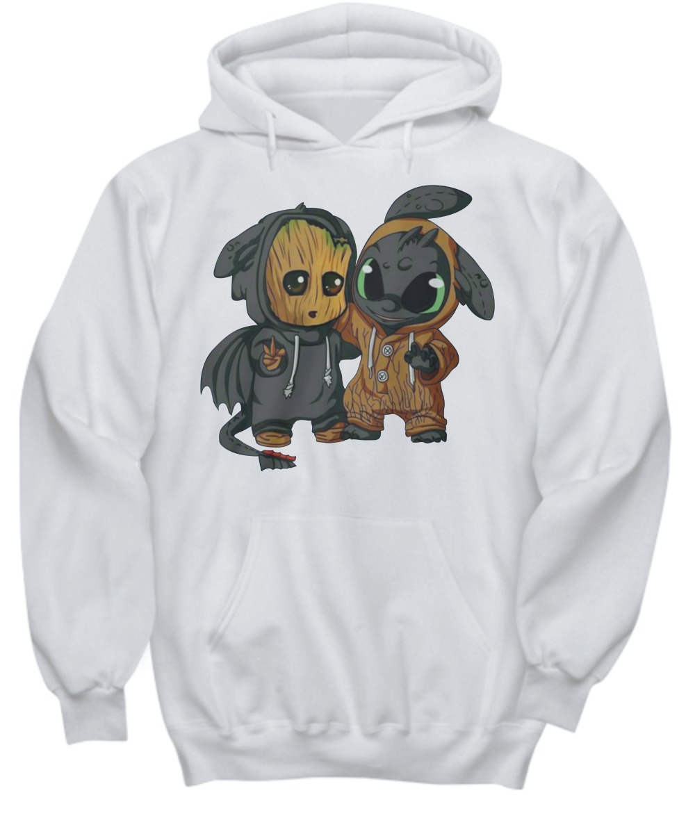 Baby Groot and Toothless dragon shirt and hoodie