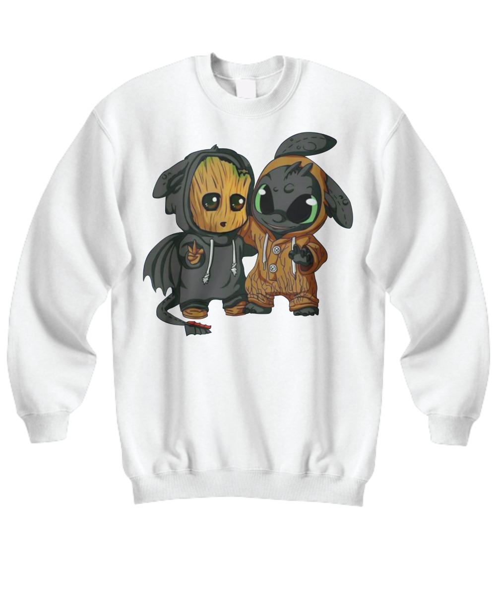 Baby Groot and Toothless dragon sweatshirt