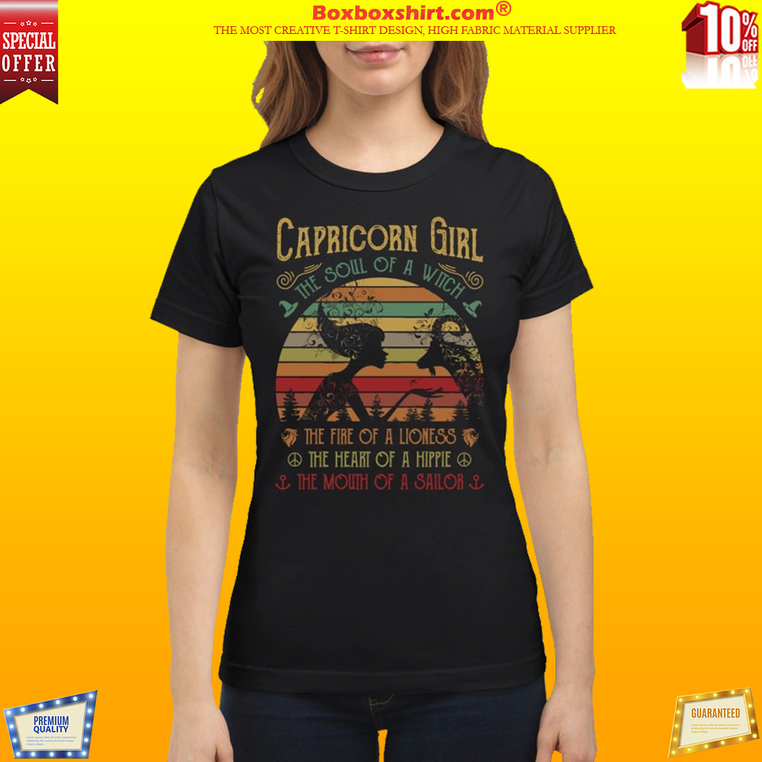 Capricorn girl the soul of a witch the fire of a lioness shirt