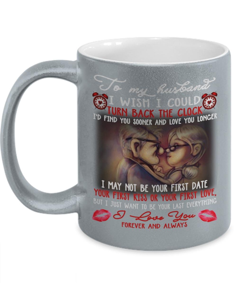 Carl Fredricksen UP to my husband I wish I could turn back the clock silver mug