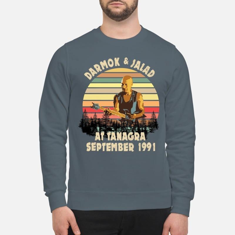 Darmok and Jalad at Tanagra September sweatshirt