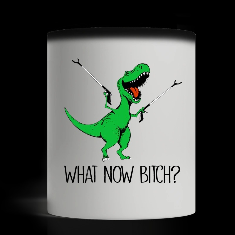 Dinosaur what now bitch magic mug