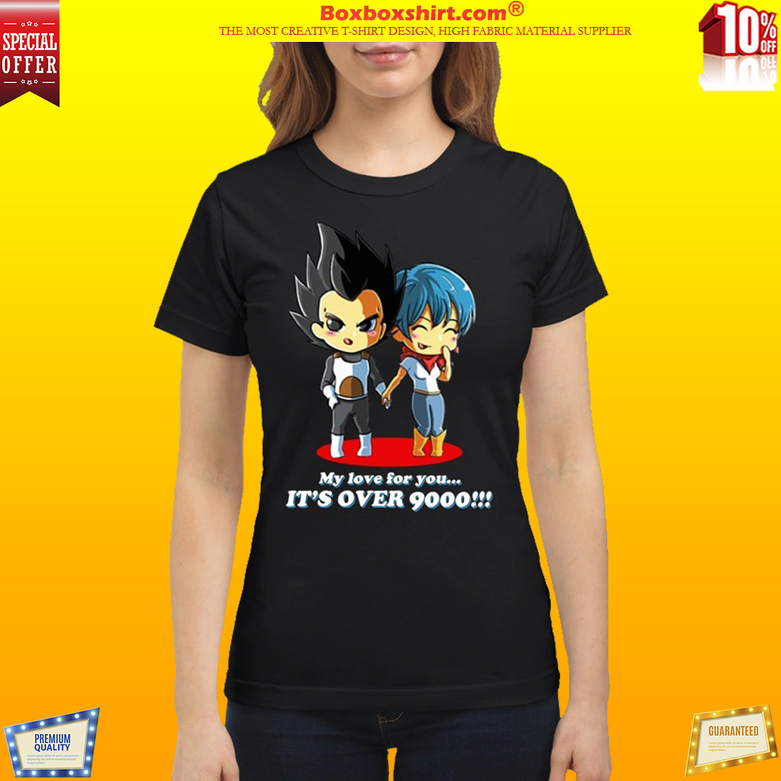 Dragon ball My love for you It's over 9000 classic shirt