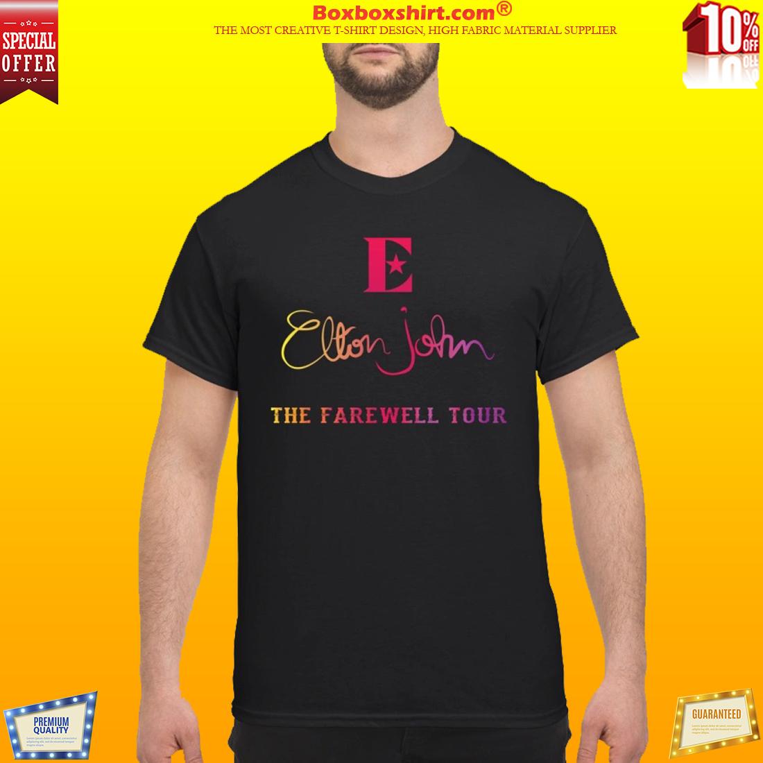 Elton John the farewell tour classic shirt