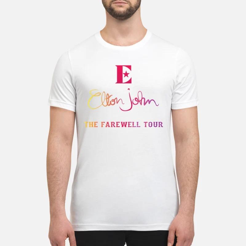 Elton John the farewell tour premium shirt