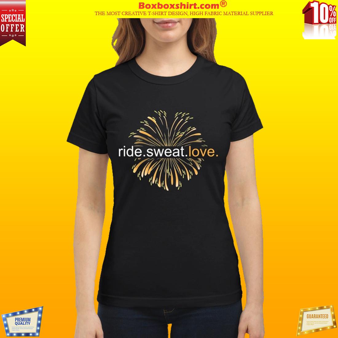 Firework ride sweat love shirt